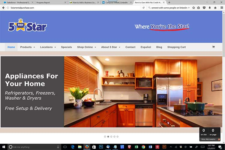 rent-to-own marketing web site